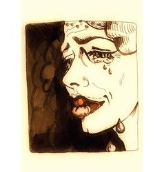 underground comix Sorrow vector image
