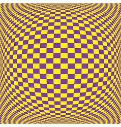 Yellow floor pattern on purple square on convexity vector