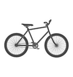 MTB black Bicycle isolated vector image