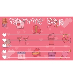 Cute valentine day greeting card vector