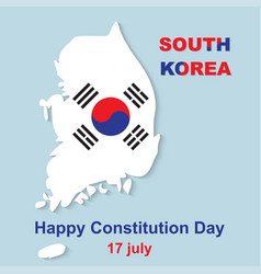 15 august happy constitution day south korea vector image