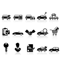 car dealership icons set vector image