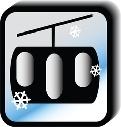 Winter icon - lift vector