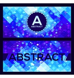 flyers templates with blue abstract geometry vector image
