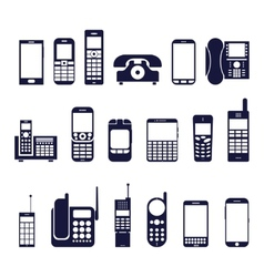 Icons phones vector