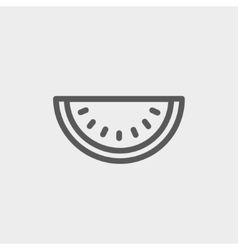 Watermelon slice thin line icon vector