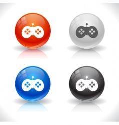 website template buttons vector image