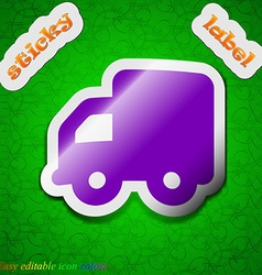 Delivery truck icon sign symbol chic colored vector
