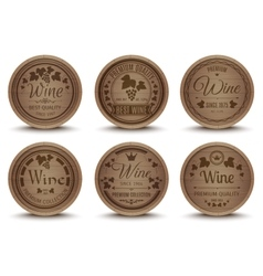 Wine barrels icons set vector