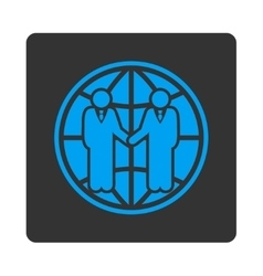 Global partnership icon vector