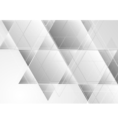 Grey abstract corporate tech background vector