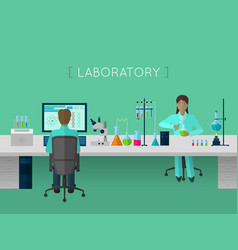 Laboratory flat concept vector
