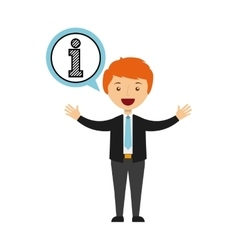 Business person talking isolated icon design vector