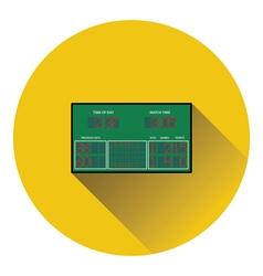 Tennis scoreboard icon vector image