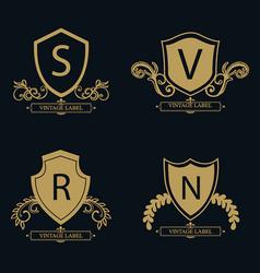 Amazing luxury logo designs vector