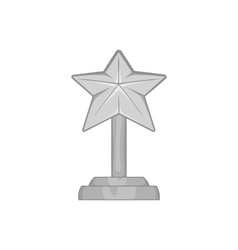 Award star icon black monochrome style vector