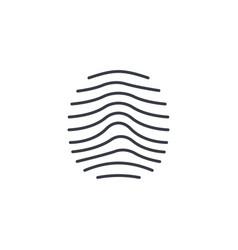 Biometric thumbprint finger scan id secure thin vector