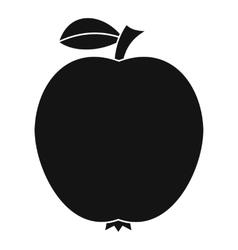 Black apple icon simple style vector
