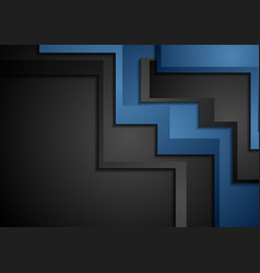 blue and black abstract corporate material vector image