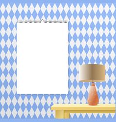 Calendar binder mockup vertical on transparent vector