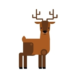 Carton wild deer animal flat vector image