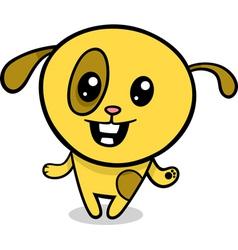 cartoon kawaii puppy vector image vector image