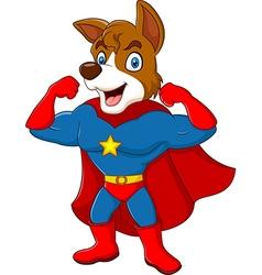 Cartoon superhero dog posing isolated vector