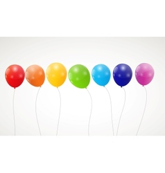 Color glossy rainbow balloons background vector
