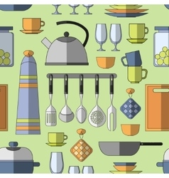 Cooking tools pattern vector image vector image