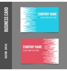 Corporate identity - business cards vector