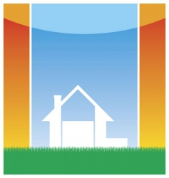 country cottage vector image vector image