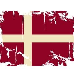 Denmark grunge flag vector image