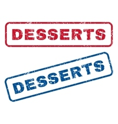 Desserts Rubber Stamps vector image