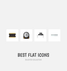 Flat icon appliance set of hdd memory vector