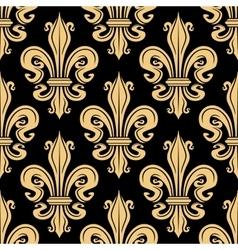 Golden french fleur-de-lis seamless pattern vector image vector image