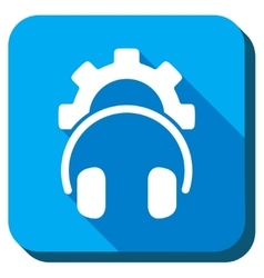 Headphones tools icon vector