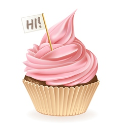 Hi Cupcake vector image