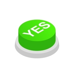 Pressbutton YES icon isometric 3d style vector image vector image