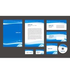 Professional corporate identity airplane flight vector image vector image