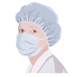 Realistic portrait of a nurse or doctor vector