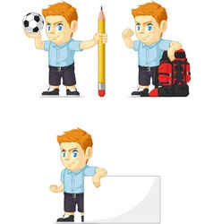 Red head boy customizable mascot 14 vector