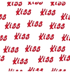 Seamless pattern words love and hearts vector