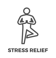 stress relief thin line icon vector image vector image