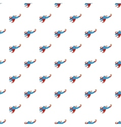Superhero flying to fight pattern cartoon style vector