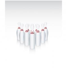 ten bowling pins vector image vector image