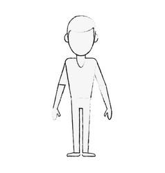 Young man avatar cartoon vector