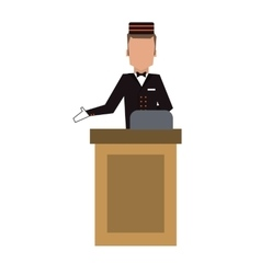 Bellboy or bellhop icon vector