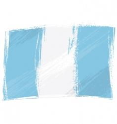 Grunge guatemala flag vector