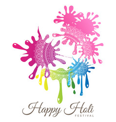 Abstract colorful happy holi festival vector