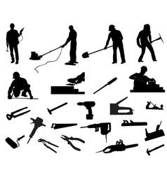 Builders vector image